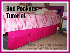 Bed pockets are a great feature to add to your kids' beds. They can put anything there, especially books if they like reading in bed. The tutorial from the blog Creating My Way to Success shows tha...