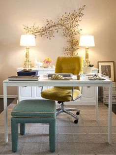 The most beautiful examples've put together home office designs. If you want to have a home office to your home, you can get ideas from this photo gallery. We share with you home office design ideas. Home Office Space, Home Office Design, Home Office Decor, Office Designs, Office Ideas, Office Spaces, Cozy Office, Office Chic, Work Spaces