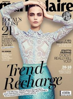 Cara Delevingne for Marie Claire Indonesia July 2015 | Art8amby's Blog