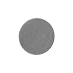 Optical Illusion clip art ❤ liked on Polyvore featuring circles, fillers, backgrounds, effects, black, round and circular