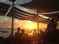 Sunset in Cafe del Mar, Sant Antoni, Ibiza. EH
