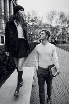 Benjamin Eidem & Cameron Russell by Lachlan Bailey for Man About Town (S/S…