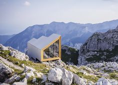OFIS architects and have collaborated with Harvard University students to create and build a Slovenian shelter with the ability to withstand extreme alpine conditions, also offering incredible panoramic views of the surrounding landscape - http://ourexplorers.com/prefab-alpine-shelter/