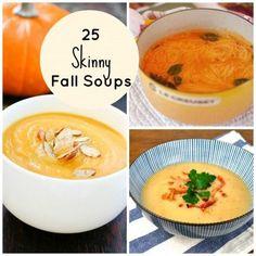 25 Skinny Fall Soups #mealprep