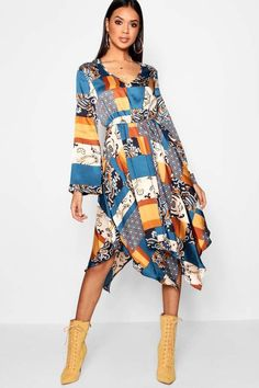 5898b37f3ade7 online shopping for Indy Bohemian Scarf Print Midi Dress from top store.  See new offer for Indy Bohemian Scarf Print Midi Dress
