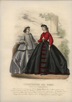 1864 fashion plate- I have always loved this one. The fact that they showed a bright red zouave jacket was amazing!