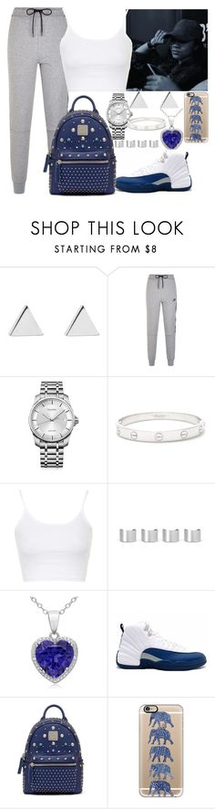 """French Blue 12s "" by lover-185 ❤ liked on Polyvore featuring Jennifer Meyer Jewelry, NIKE, Calvin Klein, Cartier, Topshop, Maison Margiela, MCM and Casetify"