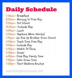 Daily Toddler Schedule And Routine With Tot School And Intentional