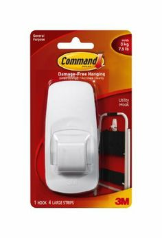 Command Jumbo Hooks, White, 1-Hook, 4-Pack by Command. $17.00. Amazon.com                  3M Adhesive Technology 3M Command products offer simple, damage-free hanging solutions for many projects in your home and office. Simplify decorating, organizing, and celebrating with an array of general and decorative hooks, picture and frame hangers, organization products, and more.Thanks to the innovative Command Adhesive strips, you can mount and remount the bundlers witho...