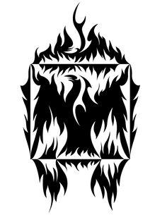 Phoenix Notan by ~CoyoteHills on deviantART