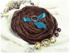 Домик СовушкиСовы.: Текстильная брошь