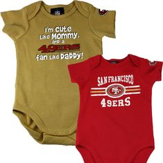 49er outfits for babies | San Francisco 49ers Cute Like Mommy Onesie