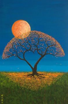 Shop for tree art from the world's greatest living artists. All tree artwork ships within 48 hours and includes a money-back guarantee. Choose your favorite tree designs and purchase them as wall art, home decor, phone cases, tote bags, and more! Foto Poster, Beautiful Moon, Simply Beautiful, Arte Pop, Moon Art, Tree Art, Painting Inspiration, Art Inspo, Amazing Art