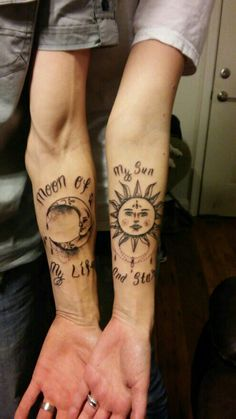 """My husband and I """"moon of my life, my sun and stars"""" Mr & Mrs Cody Phillips"""