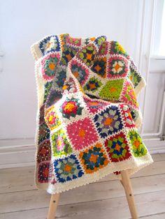 baby blanket, organic afghan, crochet, Jolly Good Blanket, colorful, nursery decor, baby shower gift, wool, alpaca, eco friendly.