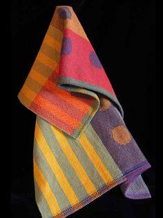 Handwoven towel by Paula Pfaff  photo by Aimee Radman