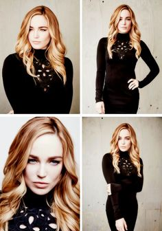 Caity Lotz of CW's Legends of Tomorrow poses in the Getty Images Portrait Studio.