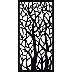 Matrix Plastic Decor Screen - Woodland