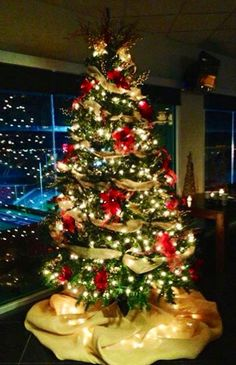 Celebrate with a Festive Christmas Tree when you host your holiday party at the Texas Tech Club!
