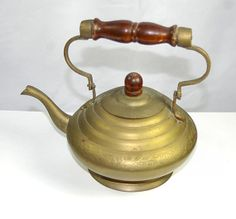 1960s Decorative India Brass Teapot Small Teapot by KickassStyle, $20.00