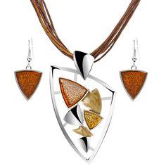 ZOSHI Fashion African Jewelry Set 2019 Leather Chain Enamel Gem Jewelry Sets for Party Bridal Jewelry Sets Summer Jewelry Costume Jewelry Sets, Women's Jewelry Sets, Bridal Jewelry Sets, Enamel Jewelry, Gems Jewelry, Jewellery, Boho Jewelry, Peridot Jewelry, Women Jewelry