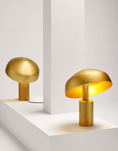 Australian designer Ross Gardam has designed a limited-edition aluminium and anodised gold lamp with a shade that can be pivoted 360 degrees.
