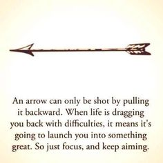 I want a small arrow tattoo because of this cute quote (: