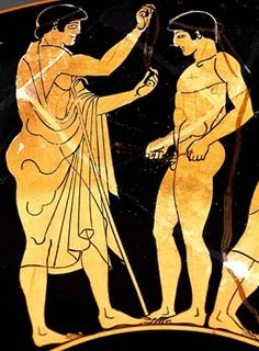 Ancient Greek Olympics ( 776 bc or before)  a vase depicting a medal winner