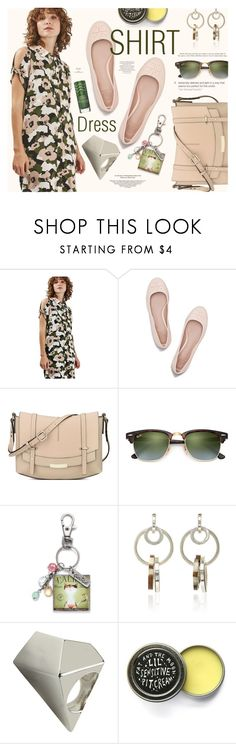 """It's a Shirt! It's a Dress! It's a Shirtdress!"" by katarina-blagojevic ❤ liked on Polyvore featuring Topshop, Tory Burch, Nine West, Ray-Ban, Edun, Marc by Marc Jacobs, Magdalena, Sally Hansen and shirtdress"