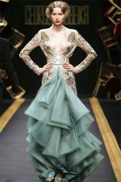 haute couture fashion | Lebanese designer Georges Hobeika's haute couture show.