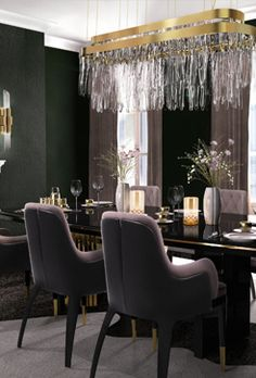 10 Narrow Dining Tables For a Small Dining Room Luxury Dining Room, Dining Room Lighting, Dining Room Design, Dining Rooms, Table Lighting, Narrow Dining Tables, Small Dining, Contemporary Dining Table, Contemporary Furniture