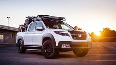 Aftermarket companies are showing the 2017 Ridgeline lot's of attention. Check out what Fox Marketing did to it!