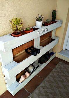 paletten möbel selber bauen | Wohnideen-für-Schuhregal-selber-bauen_diy-möbel-aus-paletten
