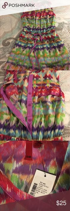 NWT Anthropologie Romper free People style small Adorable bright colored Ikat print 5/48 Anthropologie Other
