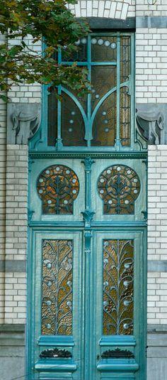 Art Nouveau Doors in Budapest, Hamburg, Bruxelles, Barcelona, Riga and Vienna Grand Entrance, Entrance Doors, Doorway, House Entrance, Front Doors, Cool Doors, Unique Doors, Art Nouveau, When One Door Closes
