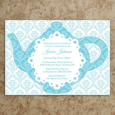 Tiffany Tea Party Invitation  DIY Printable by DesignsWithStyle, $24.00