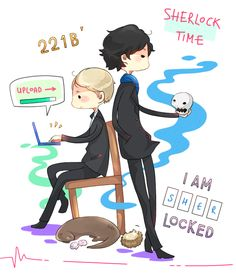 cartoon Sherlock. So I wasn't going to re-pin this, BUT THEN THERE WAS AN OTTER AND A HEDGEHOG.