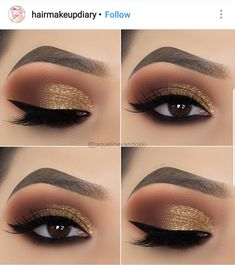 15 Alluring Golden Smokey Eye Makeup Ideas - - - 15 Alluring Golden Smokey Eye Makeup Ideas - Beauty Makeup Hacks Ideas Wedding Makeup Looks for Women Ma. Eye Makeup Designs, Eye Makeup Tips, Makeup Hacks, Makeup Inspo, Hair Makeup, Makeup Ideas, Makeup Products, Makeup Kit, Eye Makeup Tutorials