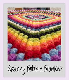 colour in a simple life: Granny Bobble Blanket (pattern)