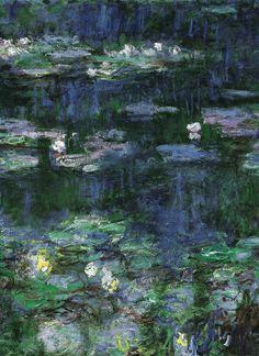 Claude Monet, Reflets verts, 1920-26.