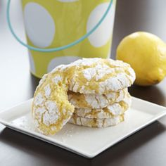 """I want to make these, as much as anything, because the recipe is so darn cute. But Cool Whip- I don't know.  """"Lemon Coconut Crackle Cookies, thing 1 and thing 2"""""""