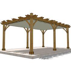 12 x 20 6 Post Breeze Pergola with Retractable Canopy