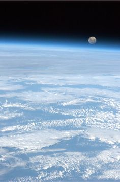 The Moon   Taken from the International Space Station, by Col. Chris Hadfield.
