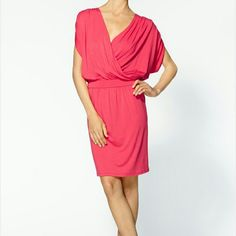 Michael stars surplice kimono dress size Small Michael stars surplice kimono dress size Small is new with tags. This is a very flattering dress. Great for any occasion day or night. This is perfect for thr spring and summer.   Orginal: $148  Michael stars surplice kimono  Size small Pink  41 inches in length  18 inches in bust (but since it wraps it can vary)  26 inches in waist (but varies due to elastic band)  9 inches (arm hole) 16 inches shoulder  8 inches nap of neck  19 inches from…