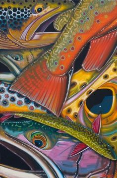 Our museum quality Giclee Prints on archival fine art paper are mounted on foam core and sealed in a cellophane sleeve, all ready to take to the framer. They are signed and numbered in a limited edition of Trout Fishing, Carp Fishing, Fishing Rod, Fishing Boots, Salmon Fishing, Ecole Art, Gone Fishing, Fish Art, Wildlife Art