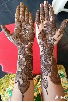 Best 11 Mehndi henna designs are always searchable by Pakistani women and girls. Women, girls and also kids apply henna on their hands, feet and also on neck to look more gorgeous and traditional. Arabic Mehndi Designs Brides, Rajasthani Mehndi Designs, Latest Bridal Mehndi Designs, Full Hand Mehndi Designs, Mehndi Designs 2018, Mehndi Designs For Beginners, Mehndi Designs For Girls, Wedding Mehndi Designs, Dulhan Mehndi Designs