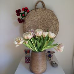 """It's feeling like #spring in the @heathertaylorhome studio, thanks to a special delivery from @hollyflorala #tulips"""