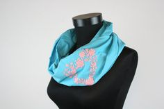 Items similar to Woman infinity scarf - circle scarf - loop scarf - hand embroidered - matyo - blue pale pink turquoise on Etsy Loop Scarf, Circle Scarf, Infinity Scarfs, Womens Scarves, Baby Car Seats, Children, Kids, Woman, Trending Outfits