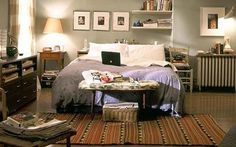 I loved Carrie's apartment on Sex and The City, before she went all Elle Decor on it.