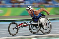Tatyana McFadden of the United States competes in the Women's 1500m - T54 Final on day 6 of the Rio 2016 Paralympic Games at the Olmpic Stadium on September 13, 2016 in Rio de Janeiro, Brazil.